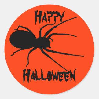 Stickers van de Spin van Halloween de Oranje