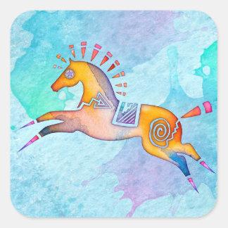Stickers van de Totem van het Pony van de geest de