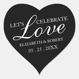 Stickers van de Uitnodiging van het Huwelijk van
