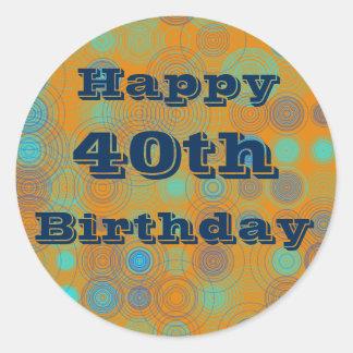 Stickers van de Verjaardag van de douane de 40ste