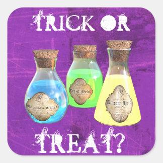Stickers van Halloween van de Drankjes van het