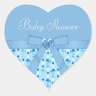 Stickers van het Baby shower van de Flamingo van