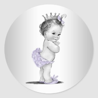 Stickers van het Baby shower van de vintage