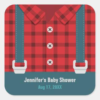 Stickers van het Baby shower van het Denim van de