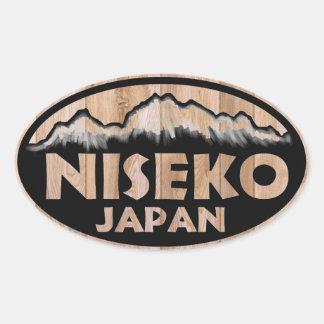 Stickers van Japan van Niseko de houten ovale