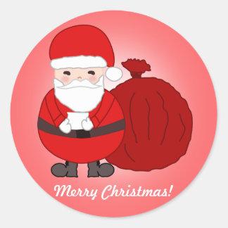 Stickers van Kerstmis van de douane de Vrolijke