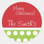 Stickers van Kerstmis van de heup de Groene en