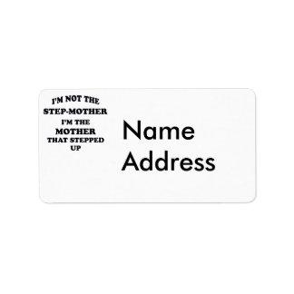 Stiefmoeder Addressticker