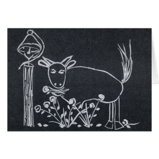 Stier & de Klok van het Diner Wenskaart