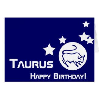 Stier, Gelukkige Verjaardag! - Pas aan Kaart