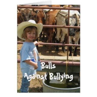 Stieren tegen Intimidatie #7 van Verschillende 7 Wenskaart