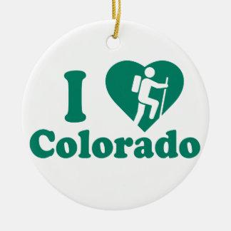 Stijging Colorado Rond Keramisch Ornament