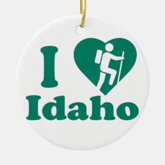 Stijging Idaho Rond Keramisch Ornament
