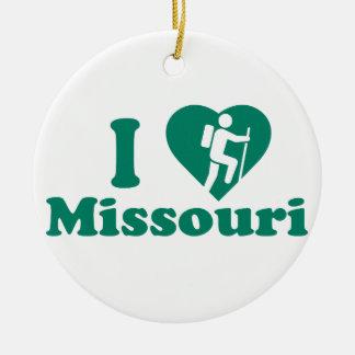 Stijging Missouri Rond Keramisch Ornament