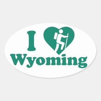Stijging Wyoming Ovale Sticker