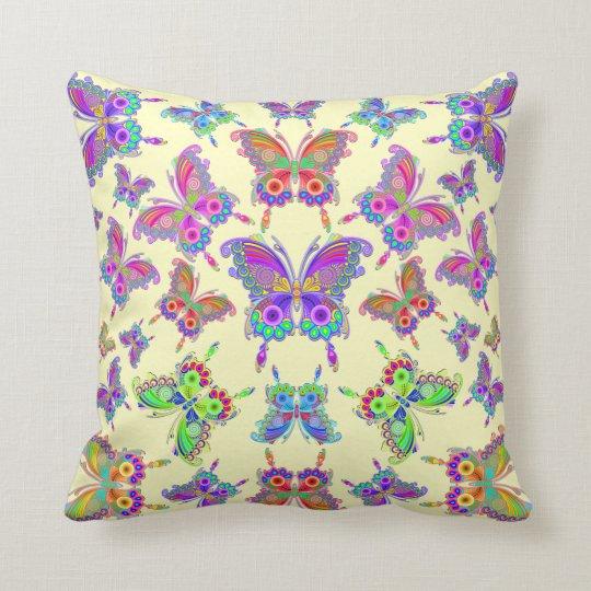Stijl van het Tattoo van de vlinder de Kleurrijke Sierkussen