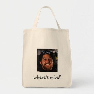 stikebag waar is mive? draagtas