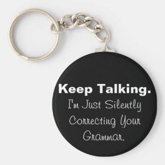 Stil Verbeterend Uw Grammatica Keychain Sleutelhanger