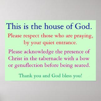 Stil voor gebed poster
