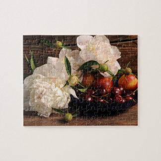 Stilleven met Bloemen en Fruit Puzzel