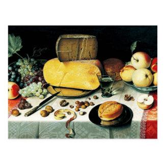 Stilleven met Fruit, Noten en Kaas Briefkaart