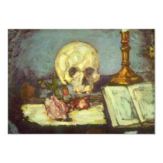 Stilleven met Schedel, Kaars, Boek door Cezanne Uitnodigingen