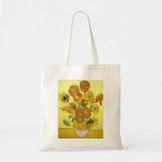 Stilleven - Vaas met Vijftien Zonnebloemen van Draagtas