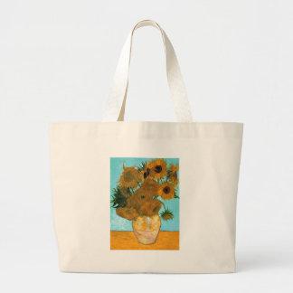 Stilleven: Zonnebloemen - Vincent van Gogh Grote Draagtas