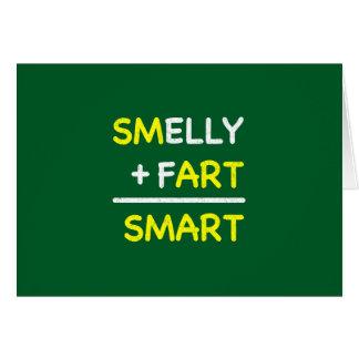 STINKEND + FART = SMART BRIEFKAARTEN 0