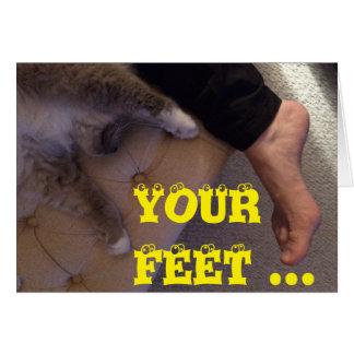 Stinkende voeten, grappige kaart