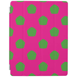 Stip cupcakes in roze en groen iPad cover