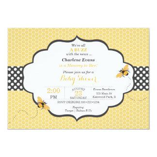 Stip van de Honingraat van het Thema van de bij de 12,7x17,8 Uitnodiging Kaart