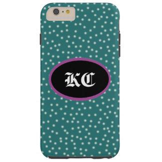 Stippen met customizeable Initialen Tough iPhone 6 Plus Hoesje