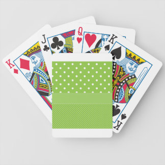 stippen op groen pak kaarten