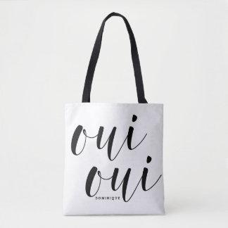 Stippen van de Kalligrafie van Oui van Oui de Draagtas