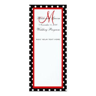 Stippen van het Programma van het huwelijk de 10,2x23,5 Uitnodiging Kaart