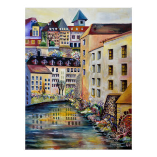 Stockholm, Gamla Stan, Oude Stad Poster