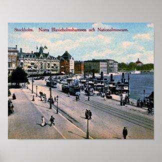 Stockholm, Zweden, Uitzicht, Nationaal Museum, Poster