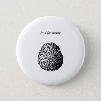 Stof tot nadenken ronde button 5,7 cm
