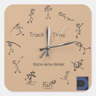 Stok met de Sticker van de Klok van de Sport