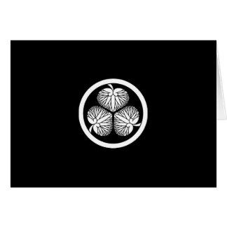 Stokroos 2 van Tokugawa (eerst, tweede, derde) 33 Wenskaart