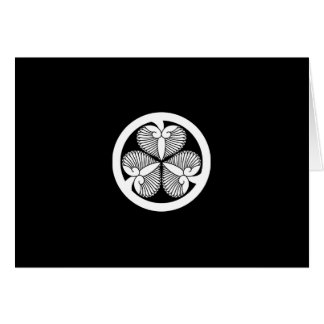 Stokroos 7 van Tokugawa (6de Ienobu) 35 Wenskaart