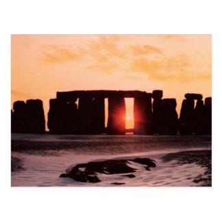 Stonehenge, de Zonnestilstand van de Winter Briefkaart