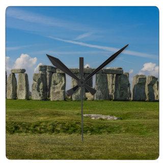 Stonehenge in Engeland Vierkante Klok