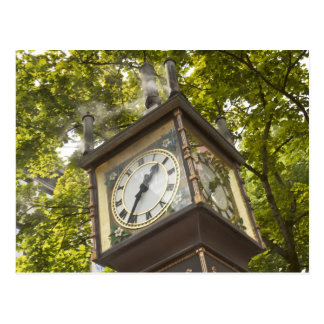 Stoom aangedreven klok in de buurt Gastown Briefkaart