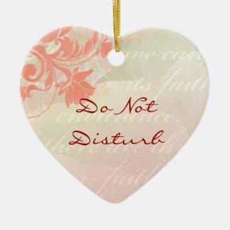 Stoor de geen Romantische Hanger van de Deur Keramisch Hart Ornament