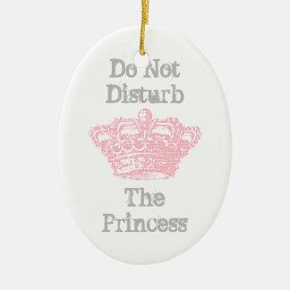 Stoor niet de Hanger van de Deur van de Prinses Keramisch Ovaal Ornament