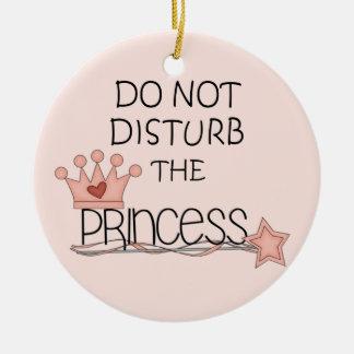 Stoor niet de Hanger van de Deur van de Prinses Rond Keramisch Ornament