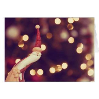 Stoping langs om vrolijke Kerstmis te wensen Briefkaarten 0