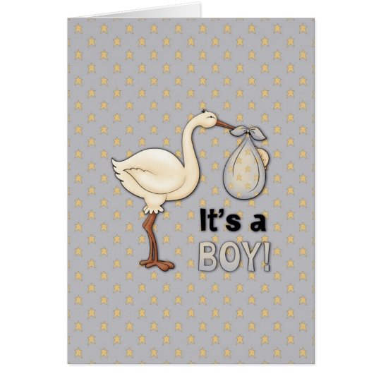 Stork with Baby Boy Briefkaarten 0